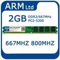 Marca DDR2 1 GB 2 GB 4 GB ram de 800 Mhz 667 Mhz PC2-6400/5300 Non-ecc 240-pin Memoria de escritorio envío rápido