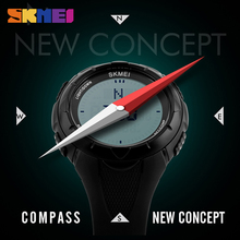 лучшая цена SKMEI Outdoor Sport Watch Men Compass Alarm Clock Countdown Watches 5Bar Waterproof Digital Watch Relogio Masculino 1232Military
