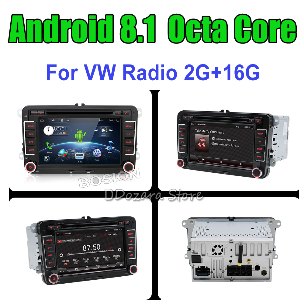 Android 8.1 Car DVD Player Radio Gps Stereo for VW Volkswagen SKODA GOLF 5 Golf 6 POLO PASSAT B5 B6 JETTA TIGUAN 2 din