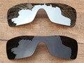Chrome Silver & Black 2 Peças Lentes de Substituição Para O Batwolf Polarizada Óculos De Sol Quadro 100% UVA & Uvb