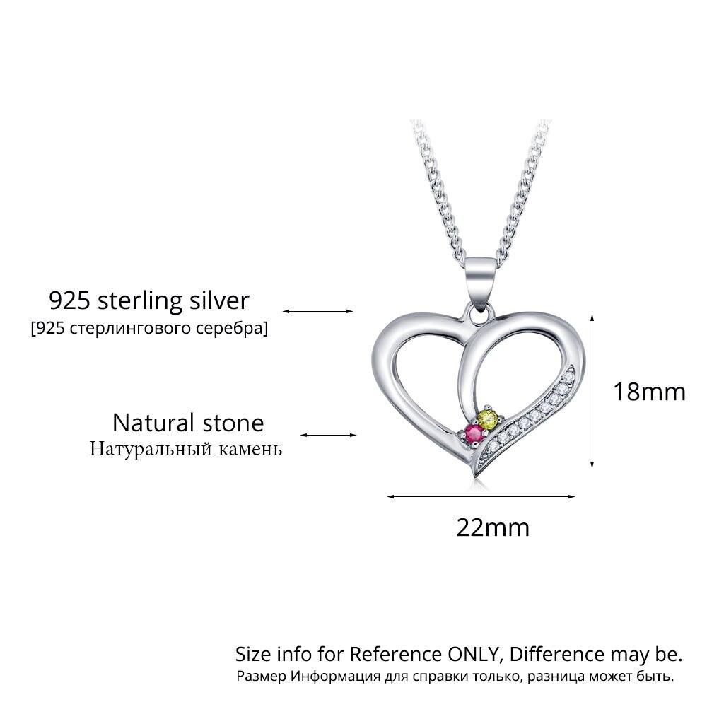 Personalisierte Halsketten 925 Sterling Silber Herzform Anhänger - Edlen Schmuck - Foto 3