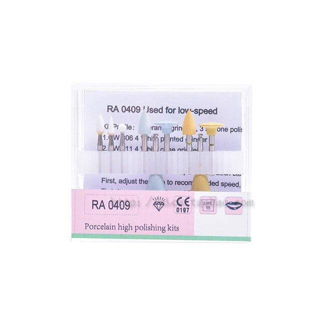 Good Quality 1 set Dental Polishing Kits RA0409 Enamel Porcelain Tooth Trimmed Light-cured Low-speed Handpiece
