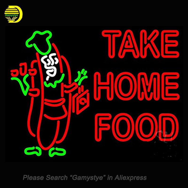 Neon Signs For Take Home Food Neon Bulbs Sign Handcraft Recreation Room Neon Light Advertise Display Beer Bar Pub Signs Lighted