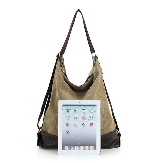 Fashion Canvas Messenger Bags Women Handbag Shoulder Bags Casual Blue Hobos Bolsa Feminina Large Capacity Tote Crossbody Bag