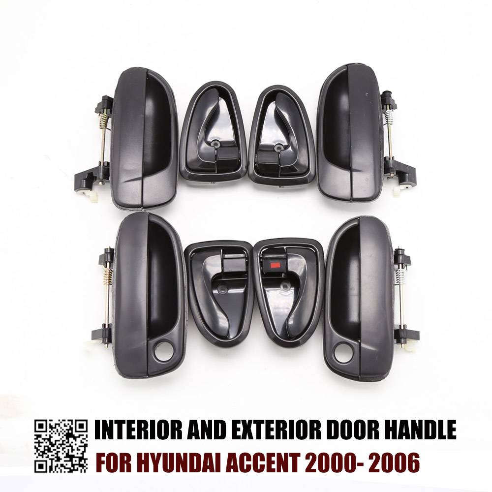 Outside Inside Door Handles Set 8265025000 8261022001 For Hyundai Accent 2000 2001 2002 2003 2004 2005