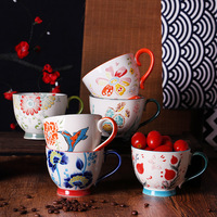 400ml Ceramic Coffee Cups Hand painted Large Capacity Milk Cup Nordic Style Porcelain Breakfast Jingdezhen Tableware