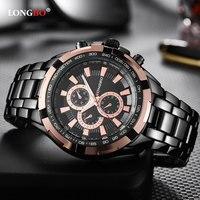 LONGBO New 2018 Quartz Watch Men Watches Top Brand Luxury Business Steel Wristwatch Male Clock For