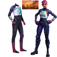Game Battle Royale Women Cosplay Costume Brite Bomber llama Rainbow Horse Zentai Bodysuit Jumpsuits Halloween Party Suits