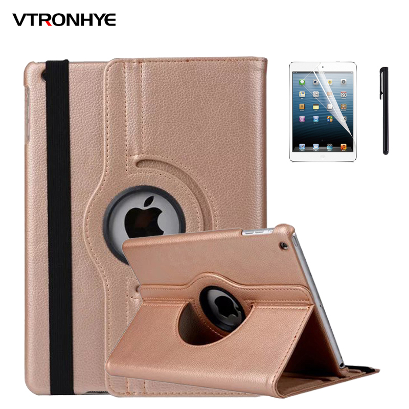 VTRONHYE Case for iPad Pro 10.5 inch 360 Rotating Stand Flip Smart PU Leather Case Cover for iPad Pro 10.5 inch+Screen Film flip left and right stand pu leather case cover for blu vivo air