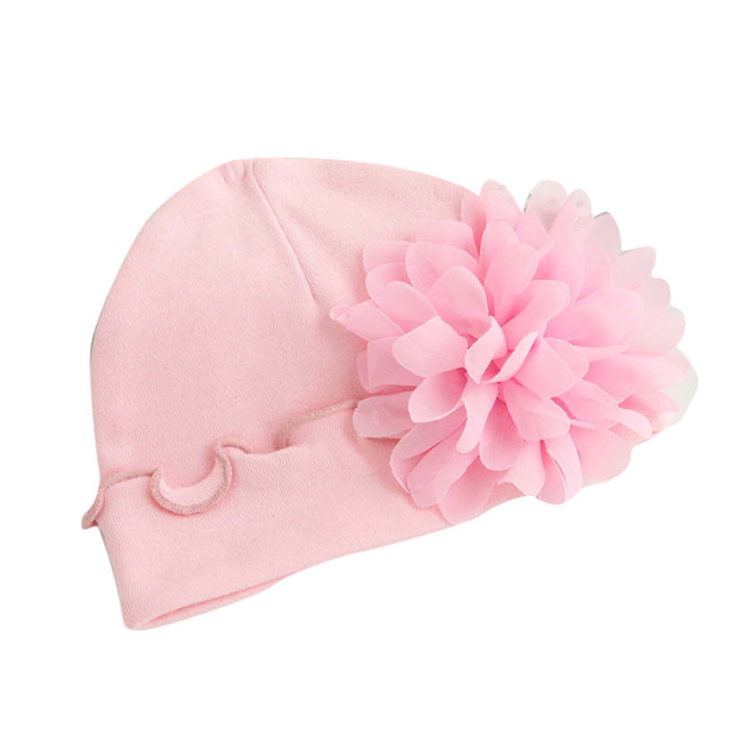 Baby Beanie Infant Newborn Baby Girls Infant Toddler Flower Hat Cotton Soft Hat Cute Baby Cap Fashion Cool Hat G0077