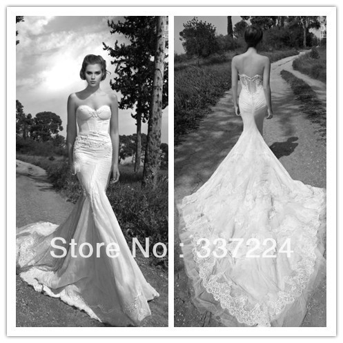 luxury lace mermaid wedding dresses sexy inbal dror backless wedding dresses