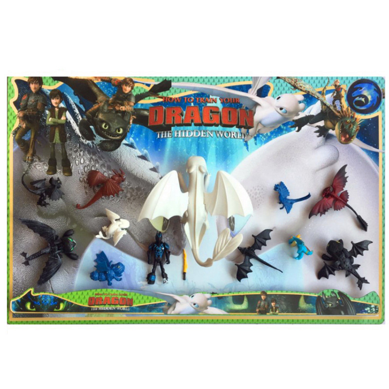 8 styles Toothless How to Train Your Dragon 3 Light Fury night fury Can move PVC Collectible Kids Gifts Toys For Children gift