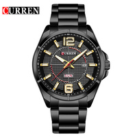 Curren 2017 Men Watches Relogio Masculino Luxury Military Wristwatches Fashion Casual Quartz Watch Water Resistant Calendar