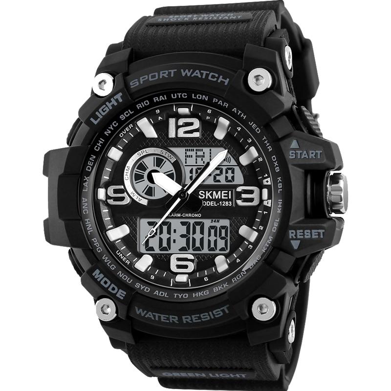 SKMEI Men Quartz Analog Wristwatches Luxury Sport LED Digital Watch Waterproof Alarm Chrono Electronic Watches Relogio Masculino
