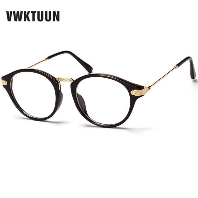 Vwktuun Oculos Bulat Kacamata Kacamata Wanita Pria Kacamata Optik Kacamata  Frame Vintage Frame Kacamata Wanita Kacamata 0089e9d063
