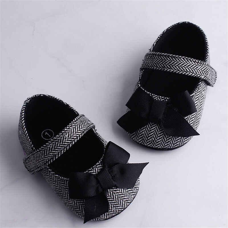 0-18Mเด็กทารกที่น่ารักเด็กทารกBowknotรองเท้านุ่มรองเท้ารองเท้าผ้าใบFirst Walkers