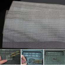 Сетка на клею Универсальный Ремонт панелей Fix из нержавеющей стали бампер автомобиля решетка сетка для любого бампера кузова Комплект капот вентиляционное отверстие автомобиля