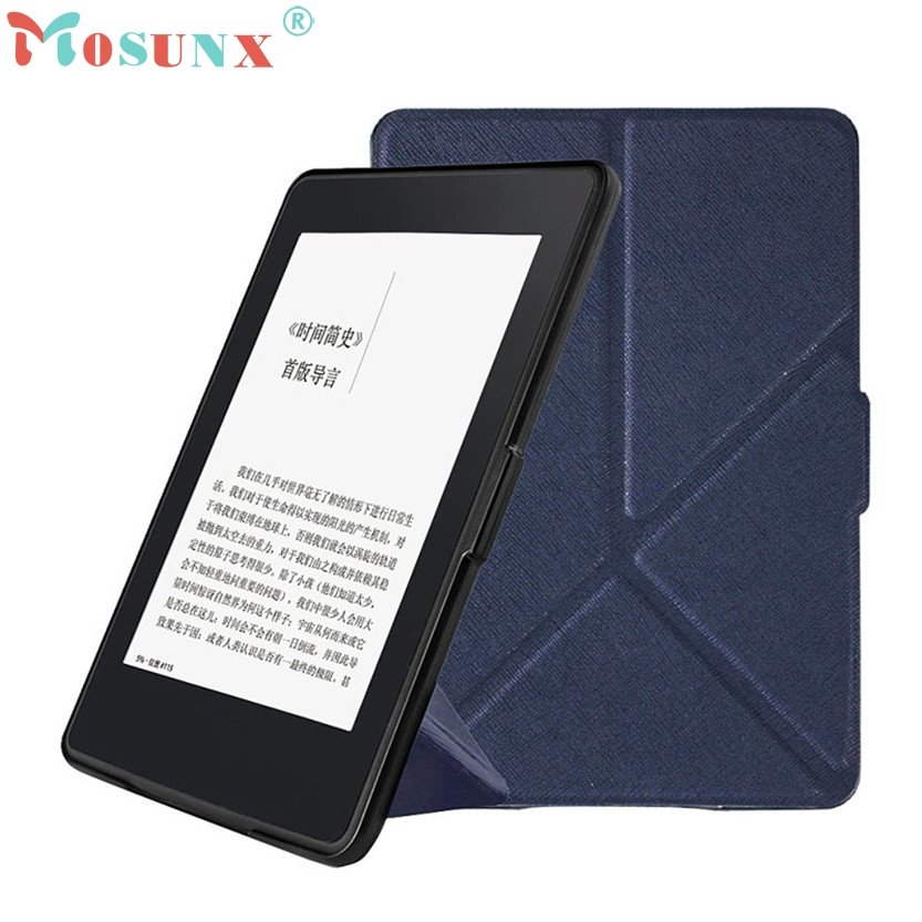U Magnetic Auto Sleep PU Leather Cover Case For 2017 Kindle Paperwhite (7th Generation) 6 inch +Free N0224