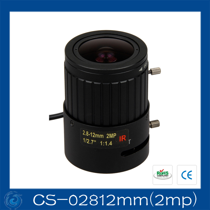 2MP. Lens to meet HD network cameras  2.8-12mm 1/3  F1.4 CCTV Lens .CS-02812mm(2mp) qhy5l ii c imager guider cameras with free a 8mm cctv lens