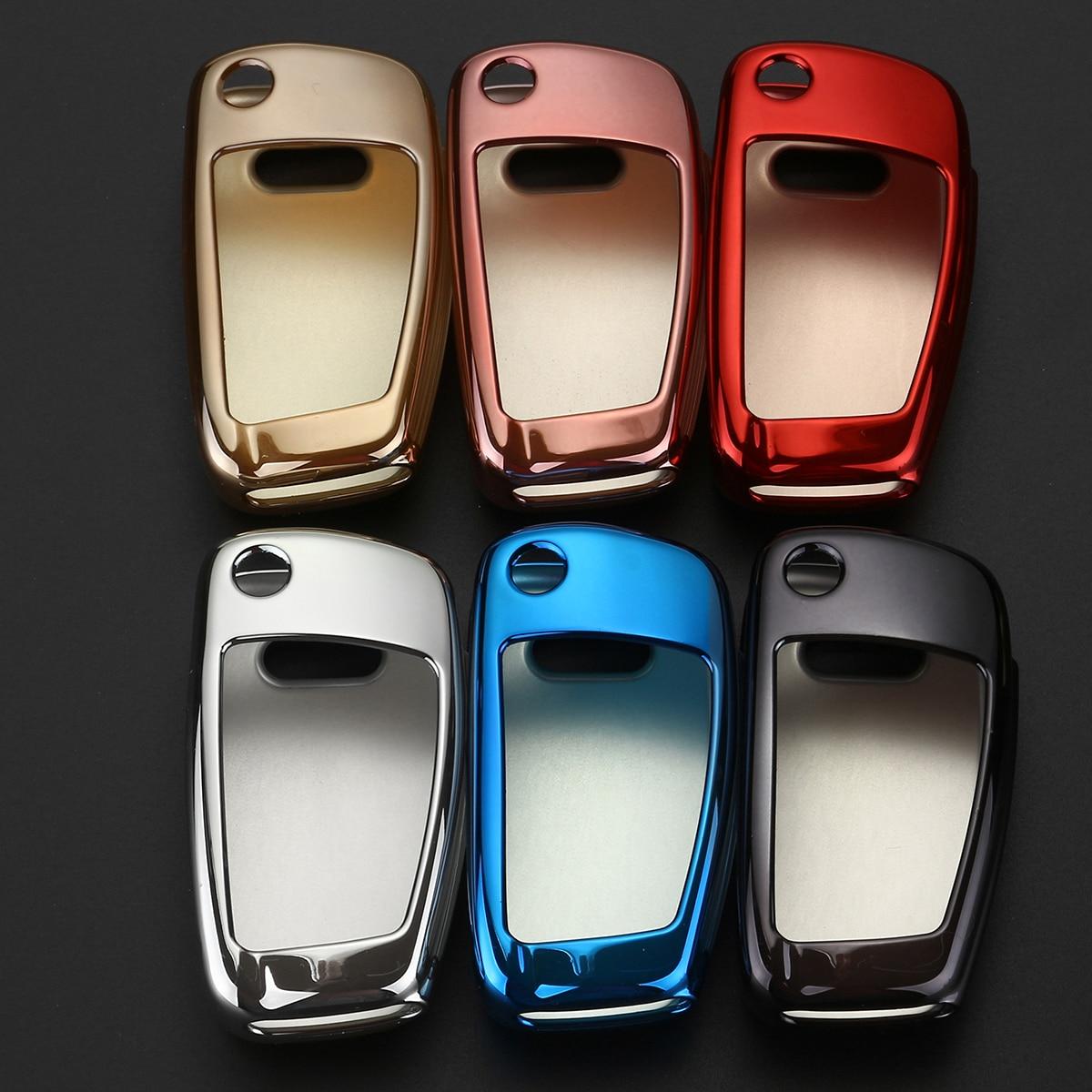 Coque de Protection pour clé de voiture TPU souple pour Audi C6 A7 A8 R8 A1 A3 A4 A5 Q7 A6 C5 coque de Protection de voiture style voiture