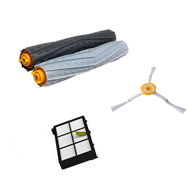 1 Tangle-Free Debris Extractor Set &Side Brushes &Hepa Filter For iRobot Roomba 800 series 870 880 980 Vacuum Cleaning Robots