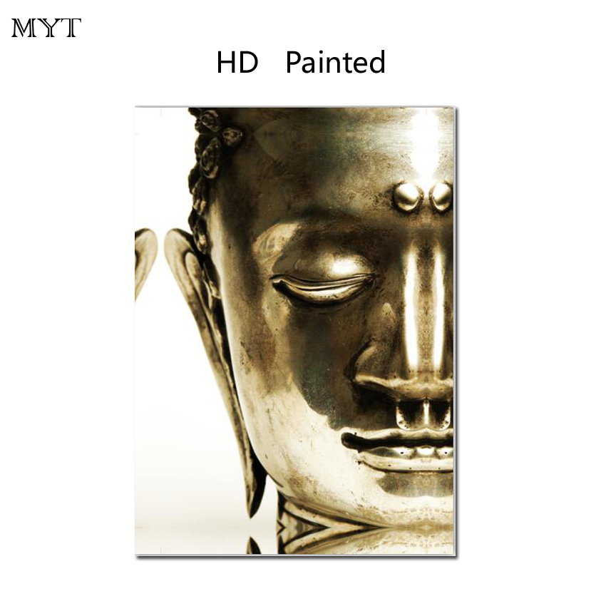 Fashion hot sale HD Printed Painting Home Decor Art Picturere Half face Buddha for bed room living room No Framed or Diy Framed