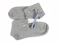 1 Paar Geleidende Elektrode Sokken Massage TIENTALLEN Sokken Met Jack 2.5mm Elektrode Lood Draad Connector Kabel Voor TIENTALLEN/EMS Unit