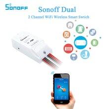 ITEAD sonoff двойной 2 канала Wi-Fi Беспроводной Smart Сделай Сам переключатель Дистанционное управление обратного отсчета времени для IOS Android Умный дом автоматизации