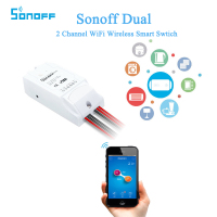 Itead Sonoff Dual 2 Channel WiFi Wireless Smart DIY Swtich Remote Control Countdown Timing For IOS