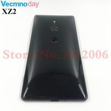 Original Metal For Sony Xperia XZ2 H8216 H8266 H8276 Back Battery Cover Rear Door Housing Case Repair With Camera Lens Logo