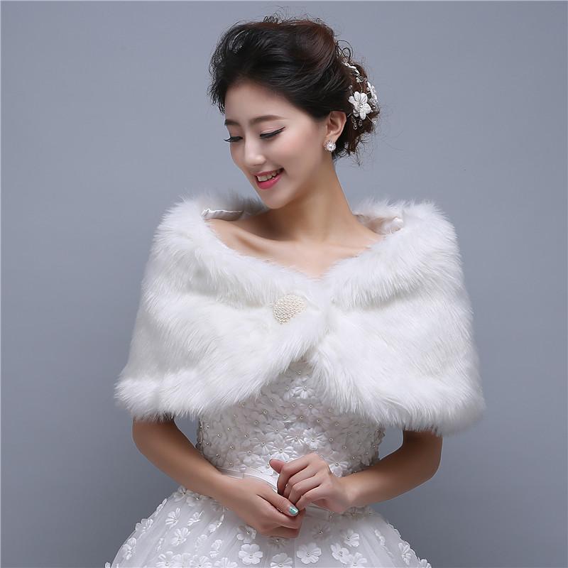 boleros para novias de mariage veste ivoire faux eacutetole de fourrure robe de marieacute - Tole Blanche Mariage