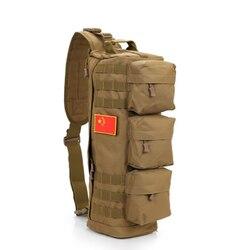 Нейлоновая нагрудная сумка для мужчин, мессенджер на плечо в стиле милитари, мужская дорожная слинг через плечо для верховой езды, Повседне...