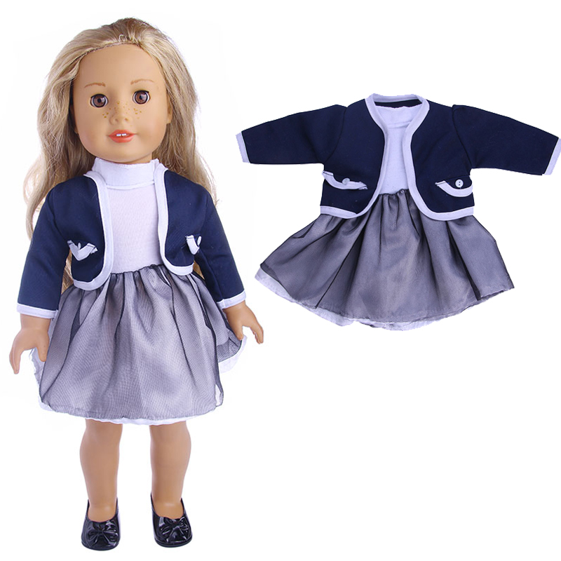 Coat + dress for 18 inch american girl doll zapf baby born holiday clothes and dress sui ...