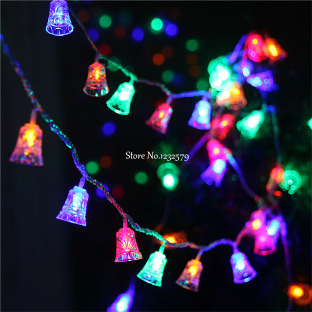 multicolor 80 led fairy string lights battery operated bell shape 10m christmas xmas party garland wedding