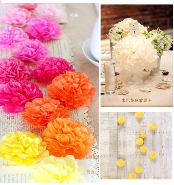 16 colors 6inch 15cm small size tissue paper pom pom flower rose 16 colors 6inch 15cm small size tissue paper pom pom flower rose ball hanging mightylinksfo Image collections