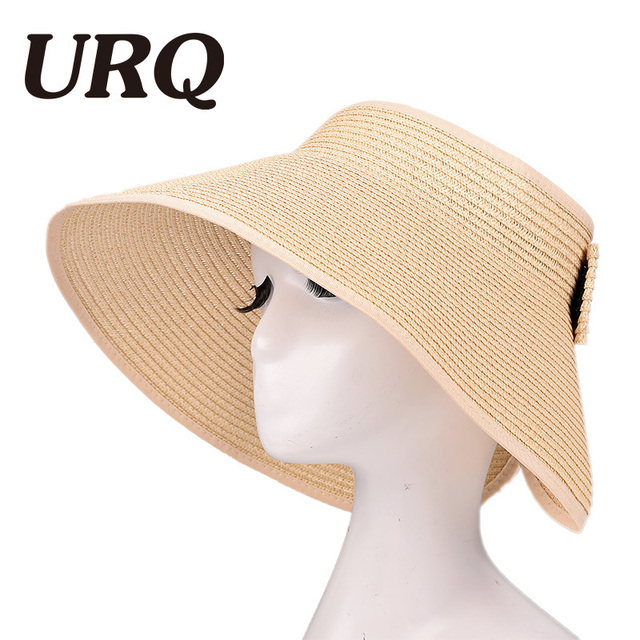 6f09decddc8 Sun Visor Beach Hats Women Visors Foldable Wide Brim Female Summer Sun Hat  Women s Hats Summer