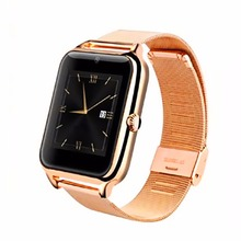 Fashion Bluetooth Smart Watch Z50 Smartwatch with Metal Frame and Steel Strap SIM card mp3 mp4 compatible with IOS Android Phone