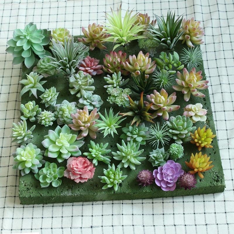 Cute Artificial Fake Flower Succulent Plant Grass Desert Garden Home Party Decor