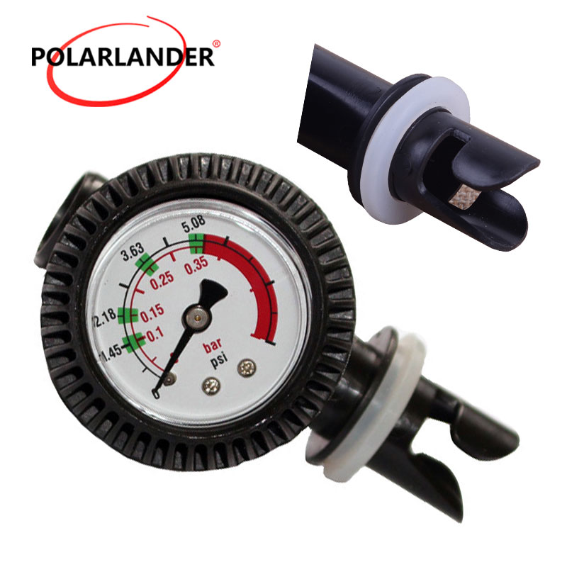 Stable Pressure Gage Inflator Gauge Meter Tester Dial Manometer Black Air Thermometer For Inflatable Kayak Raft Boat Surfing
