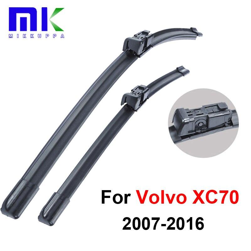 Caucho de silicona limpiaparabrisas delanteros para Volvo XC70 2007 2008 2009 2010 2011 2012 2013-2016 parabrisas Wiper Auto accesorios del coche