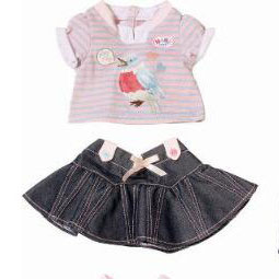 3style choose cowboy set clothes Wear fit 43cm Baby Born zapf, Children best Birthday Gift(only sell clothes)
