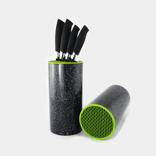 HOT-SALES Color PP brush kitchen knife holder multifunctional plastic knife block ceramic knife bar magnetic knife rack