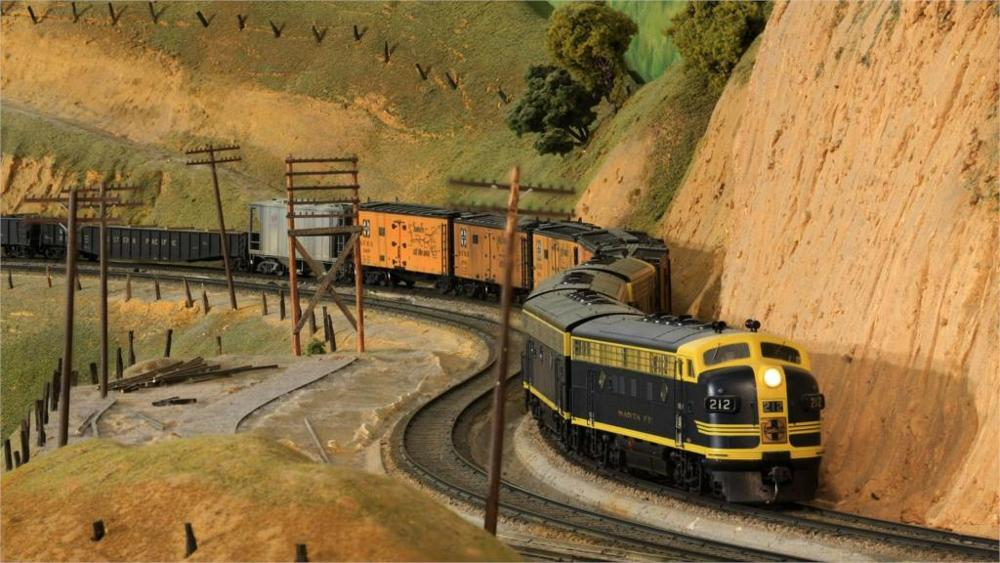 Oil Painting Fallout Paintings Model Train Toy Railroad