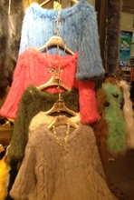 Rose rex rabbit hair fur coat rabbit fur knitted fur top fur coat
