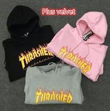 Gosha skateboards thrasher trasher palace flame magazine sweatshirts hop harajuku hoodie