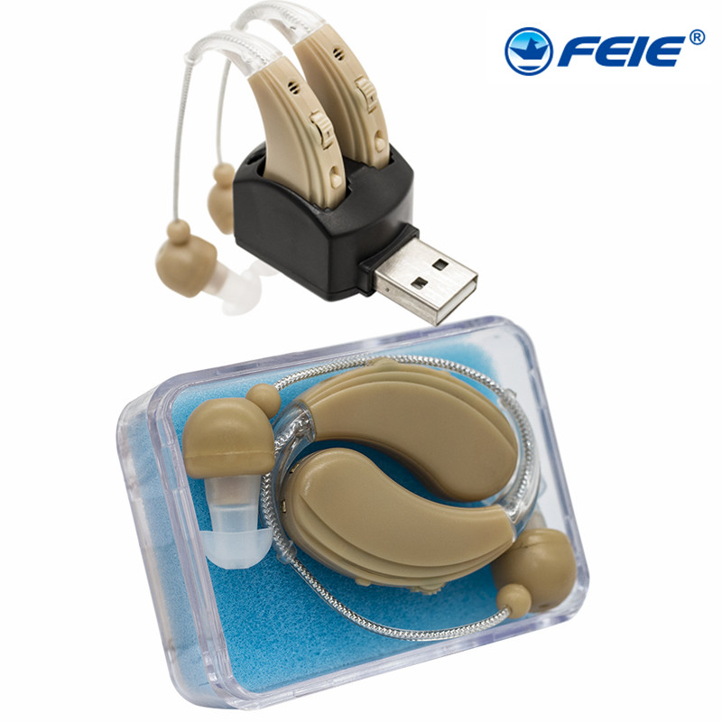Detrás de la oreja de Mini Digital audífonos asistencia ajustable audífono recargable para la sordera S 109S nueva llegada de la tecnología-in Cuidado del oído from Belleza y salud    1