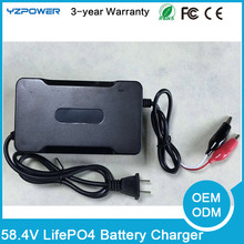 Car Battery Charger 58.4V 1.5A 2A 2.5A LifePO4 Battery Charger For 48V 8Ah 10Ah 12Ah 15A 20Ah lifepo4 Battery Pack