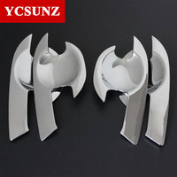 2012 2018 ABS Chrome Trim For Mazda Accessories Door Handle Insert Bowl Trim For Mazda Bt50 Car Styling Ycsunz