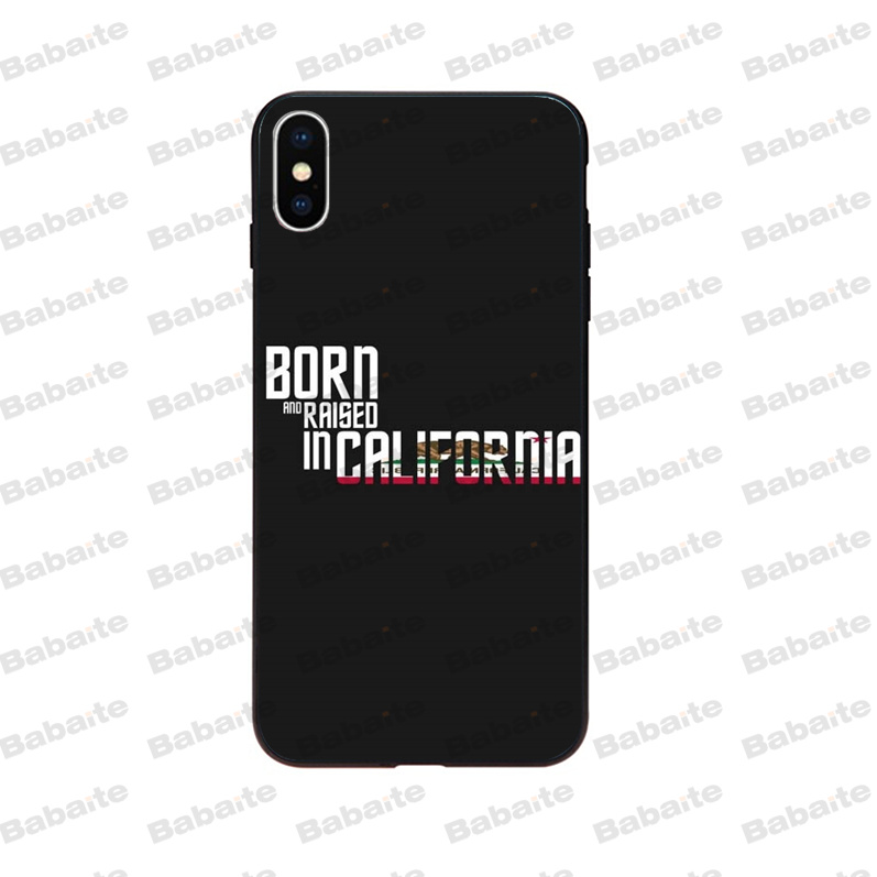 US $0 53 51% OFF|Babaite California Colorful Cute Phone Accessories Case  for iPhone X XS MAX 6 6S 7 7plus 8 8Plus 5 5S XR cover-in Half-wrapped  Cases