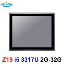 17 дюймов IP65 промышленная сенсорная панель ПК Intel Core i5 3317U все в одном компьютере с Windows и Linux 10 точек емкостный TS